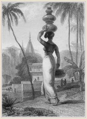 Traditional India costume. Hindu woman clothing.
