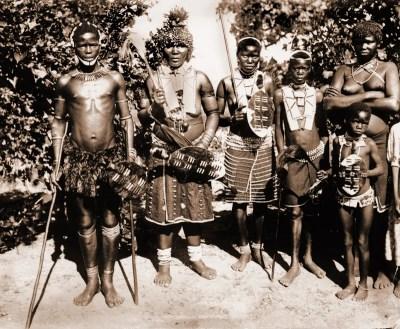 Zulu tribe. Africa warrior costume. African Zulu warriors costumes. Traditional Africa clothing.