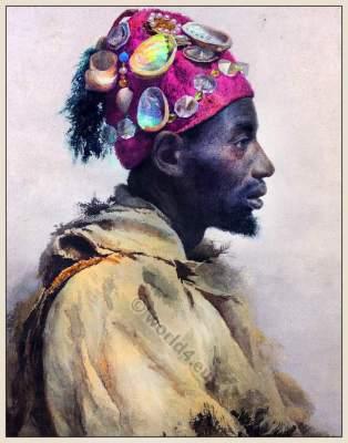 shell hat, Traditional, Arabia, Arabian, costume, dress