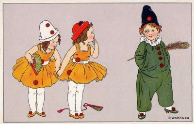 German girls carnival costumes and fancy dresses