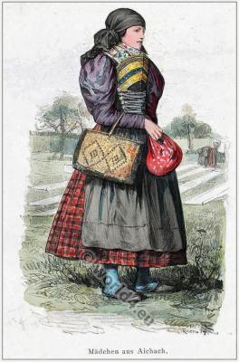 Traditional Bavarian folk costume.