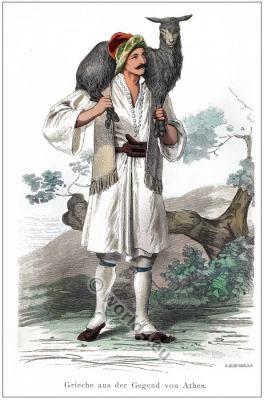 Traditional Greek folk clothing. Greek national costume