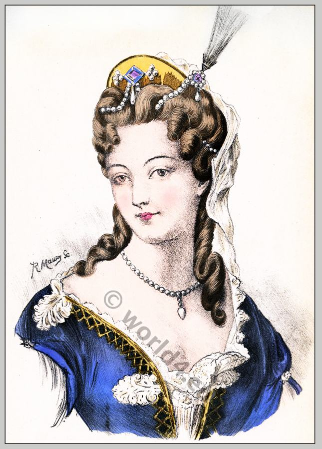 coiffure louis xiv. historic hairstyles