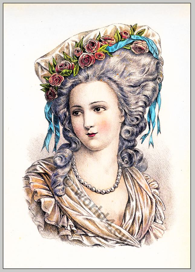Princesse de Lamballe. 18th century. Rococo hairstyle