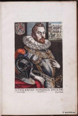 Venice fashion.Knight. Nobility. Italy renaissance. 16th century costumes.
