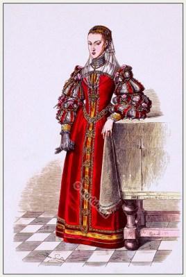 Renaissance costume. 16th century fashion. Franz Lipperheide.