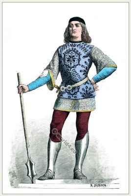 Italian Captain. 15th century fashion. Renaissance military costume.