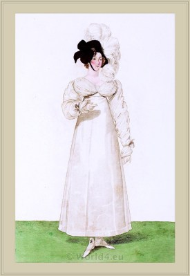 Merveilleuses. Neoclassical fashion. 18th century costume. Regency fashion.