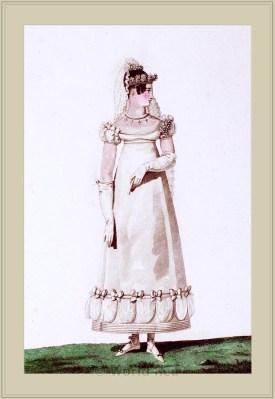 Costume Une Mariée. Merveilleuses. France directoire, regency era fashion. Horace Vernet.