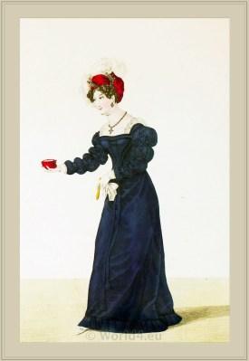 Robe de l'invention de Mme. Bouhot. Merveilleuses. France directoire, regency era fashion.