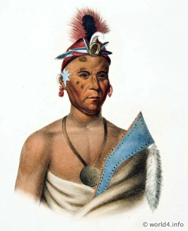 KEE-SHES-WA, A FOX CHIEF. American native.