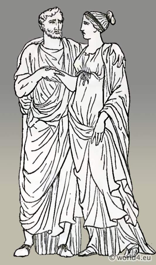 Roman Tunica. Sleeved tunic and tunica recta.