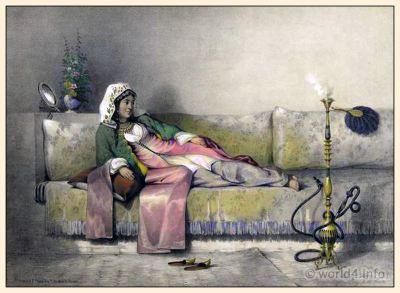 Egyptian Harem girl costume. Traditional Arabian Dress