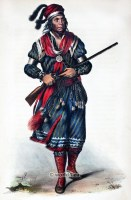 American natives costumes, illustrations and portraits. Indian Tribes of North America.
