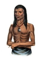 Wa-bish-kee-pe-nas, American natives costumes, illustrations and portraits. Indian Tribes of North America.