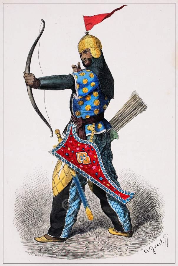 Persian archer in full armor 15th century. | Costume History
