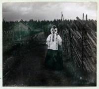 Traditional Russian costumes. Women`s folk dresses.