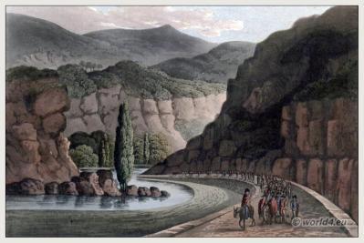 Historic spanish landscape. Villafranca del Bierzo Castile and León Comarca El Bierzo