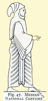Ancient Medes Costumes. Asian minor clothing