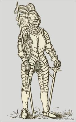 England Renaissance knights middle ages. Medieval weapons and armour.