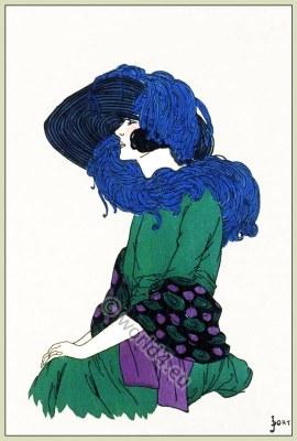 Mousquetaire, Jane Blanchot, Chapeaux, Art-deco, flapper, fashion, Très Parisien