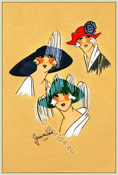 Aristocratie, Chapeaux, Très Parisien, Art-deco, flapper, roaring twenties, fashion,