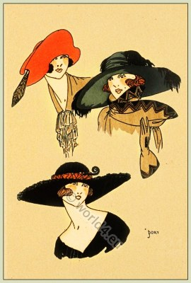 Grace Moderne, Chapeaux, Très Parisien, Art-deco, flapper, roaring twenties, fashion,