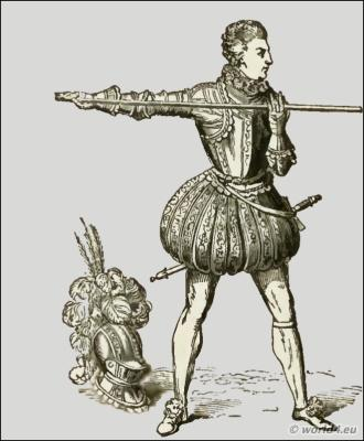 England Renaissance King knight armed, weapons and armour. Middle ages warrior