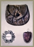 Scottish hero Rob Roy, The Purse of Rob Roy. Helen Macgregor`s brooch. Toadstone Amulet.