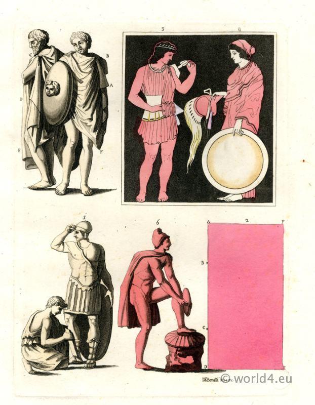 Ferrario, Giulio. Ancient Greco-Roman warriors, gods and objects