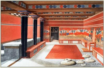 Knossos Palace. Ancient Minoan period. Architecture