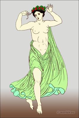 What Did Ancient Greek Women Wear. Ancient dancing costume