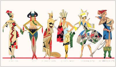 France Travestis 1930. Les Parfums. Art deco perfume flacons, Fantasy Transvestites Costumes