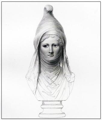Asiatic Female, Phoenician, Cidaris. Adonis, Bacchus, Bust, Greek
