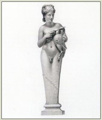 Hermaphrodite. Ancient Greek sculpture.