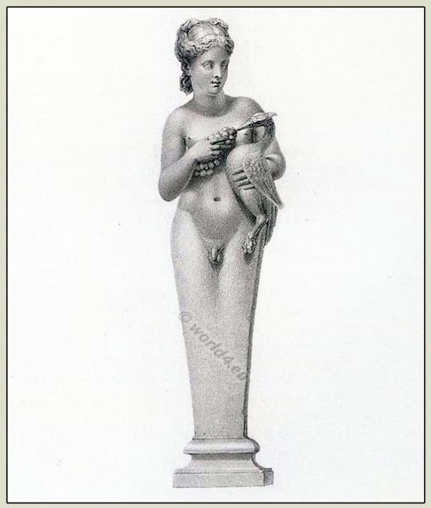 Hermaphrodite. Ancient Greek sculpture.