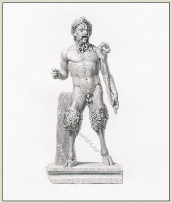 Pan. Fantastic Character. Satyr, Fauns, Satyrs. Ancient, Antique Greece mytologohy. Goddess