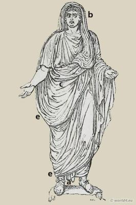 How to wear a Roman toga. The costume and fashion of Roman Empire