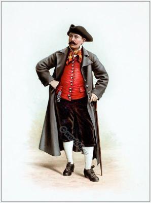Suisse costumes nationaux. Costumes suisses. Switzerland national costumes. Schaffhausen