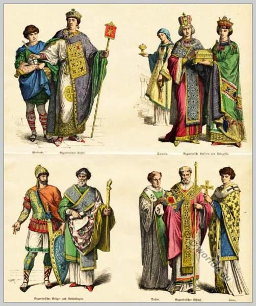Byzantine nobility, 6th century, clothing, dress, Byzantine costume history