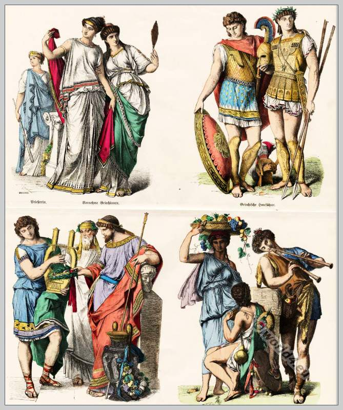 Ancient Greek Clothing: History Of Costumes. From Ancient Until 19th C.