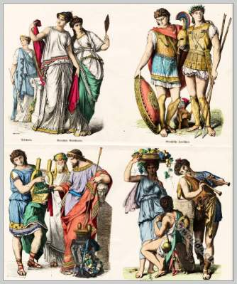 Greeks clothing in ancient times.