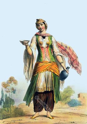 Arab, Druze, woman, costume, traditional, clothing