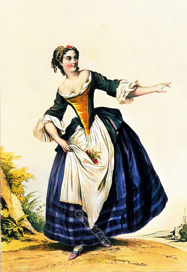French fashion history archive costume history for French rococo fashion
