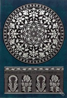 Indian art. Moghul decoration. India ornaments. Baroness de Rothschild.