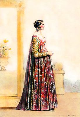 Italy costume 14th century. Italian Middle ages fashion