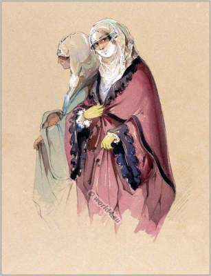 Traditional Malta dress. Maltese Women clothing.