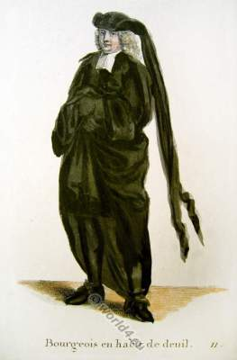 Switzerland Baroque mourning costume recherche. 17th century fashion clothing