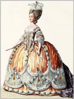 Madame Joséphe Marie-Louise of Savoy. French Rococo court dress. Costume ideas. 18th century fashion.