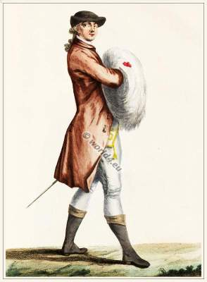 Suit Polish style. French Rococo fashion. 18th century costumes. Dandy.